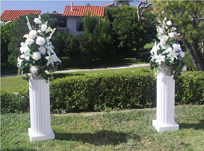 Wedding Columns With Flowers