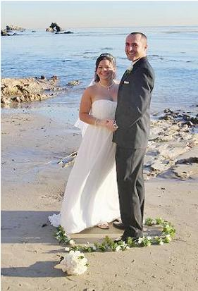 Heart In Sand Beach Wedding