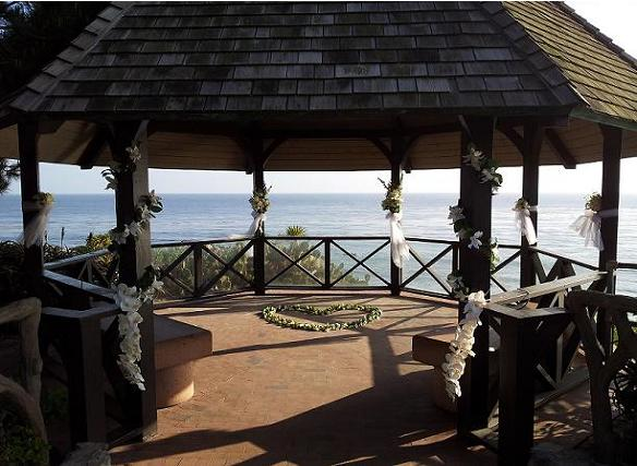 Laguna Beach Heisler Gazebo Tropical Wedding