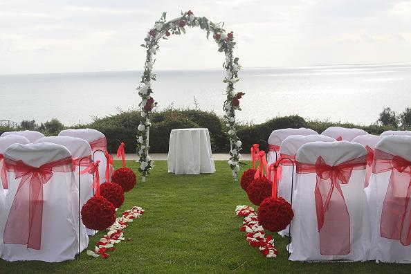 Pines Park Dana Point Red White Wedding